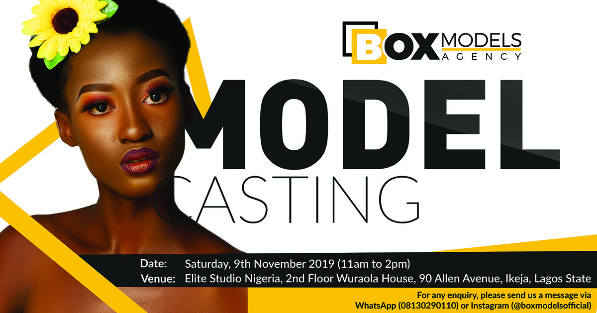 Box Model Agency - Model Casting Lagos