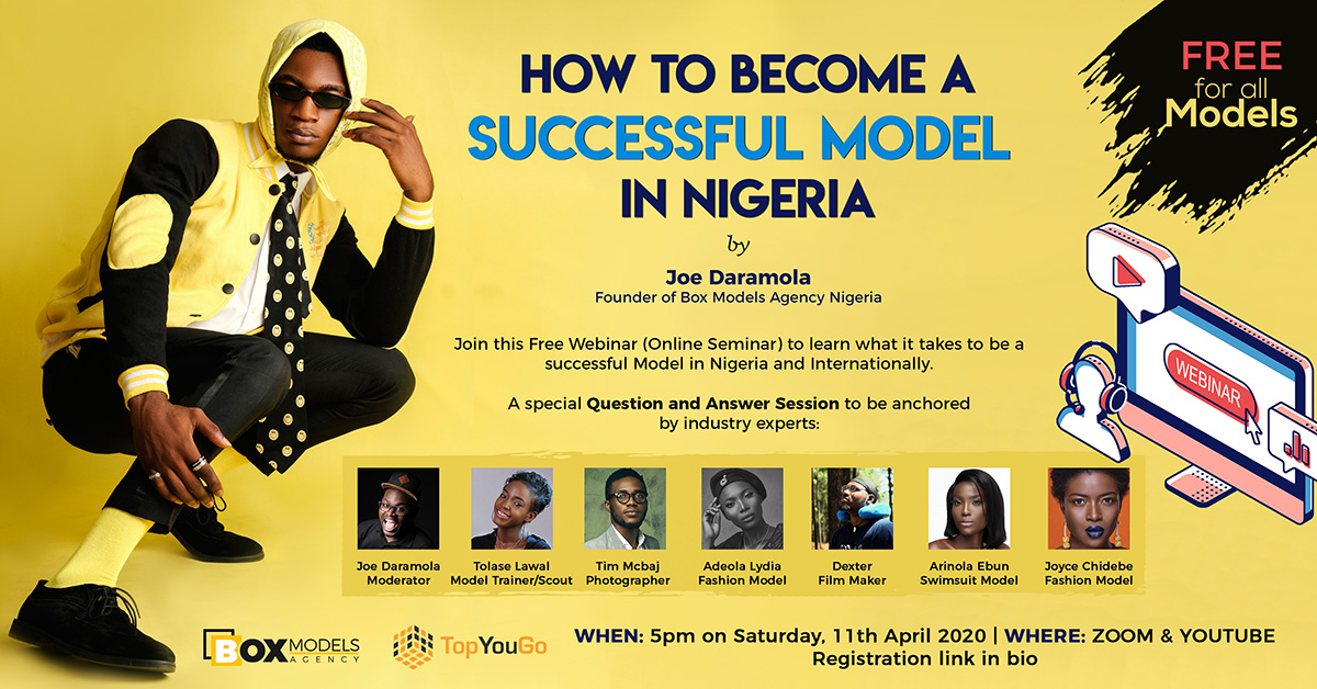 How To Become A Successful Model in Nigeria - Webinar